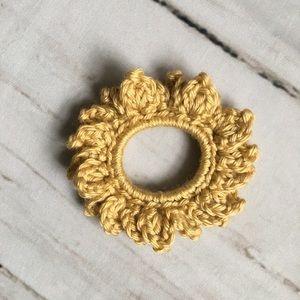 Boho flower crochet scrunchie scrunchy